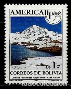 BOLIVIA SCOTT: 0809 (AMERICA-UPAEP. NEVADO HUAYNA EN LA CORDILLERA REAL) USADO (Sellos - Extranjero - América - Bolivia)