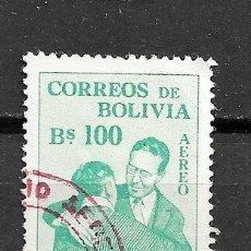 Sellos: BOLIVIA,1954,CONGRESO INTERAMERICANO DEL INDÍGENA,YVERT 154 AÉREO,USADOS. Lote 181039088