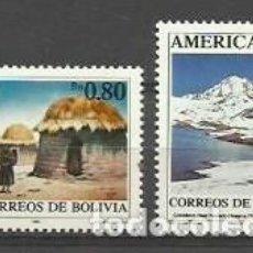 Sellos: BOLIVIA 1990 - AMERICA UPAEP - YVERT 757/758**. Lote 205781965