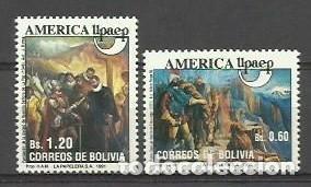 BOLIVIA 1991 - AMERICA UPAEP - DESCUBRIMIENTO DE AMERICA - YVERT 781/782** (Sellos - Extranjero - América - Bolivia)