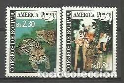 BOLIVIA 1995 - AMERICA UPAEP - YVERT 836/837** (Sellos - Extranjero - América - Bolivia)