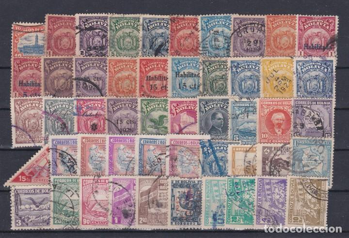 Sellos: BOLIVIA.- INTERESANTE LOTE DE 135 SELLOS MATASELLADOS DE LOS AÑOS 1880 A 1925. - Foto 2 - 222190031