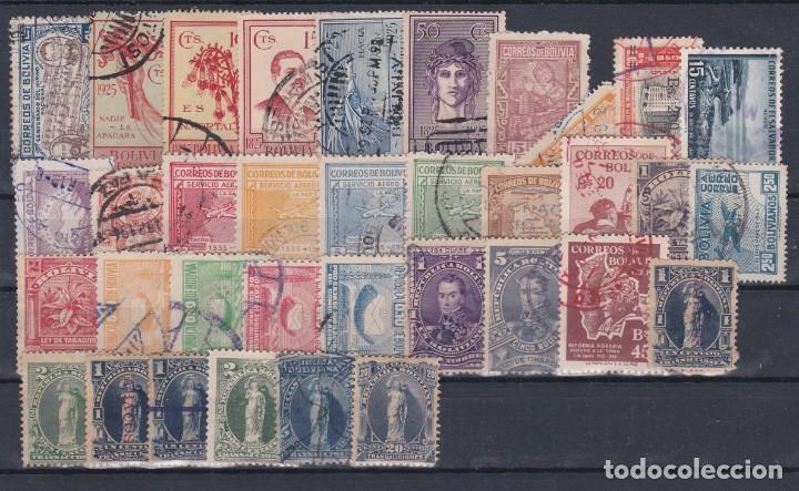 Sellos: BOLIVIA.- INTERESANTE LOTE DE 135 SELLOS MATASELLADOS DE LOS AÑOS 1880 A 1925. - Foto 3 - 222190031