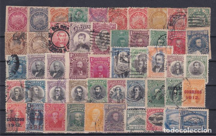BOLIVIA.- INTERESANTE LOTE DE 135 SELLOS MATASELLADOS DE LOS AÑOS 1880 A 1925. (Sellos - Extranjero - América - Bolivia)