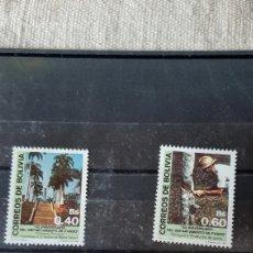Sellos: BOLIVIA 1988 SERIE COMPLETA NUEVA FLORA DEPARTAMENTO PANDO YVERT 716/7 ,FILATELIA COLISEVM. Lote 244647395