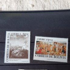 Sellos: BOLIVIA SERIE COMPLETA NUEVA YVERT 798/99 UPAEP COLÓN 1992. Lote 244649225
