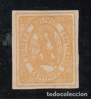 BOLIVIA ...5 SIN GOMA, (Sellos - Extranjero - América - Bolivia)