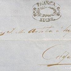 Sellos: BOLIVIA, CARTA CIRCULADA EN EL AÑO 1861. Lote 258836390