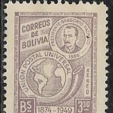 Sellos: BOLIVIA AÉREO YVERT 104, NUEVO CON GOMA Y CHARNELA. Lote 265817319