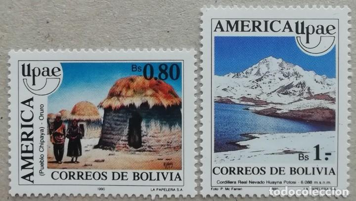1990. BOLIVIA. 757 / 758. PUEBLO CHIPAYA, CORDILLERA HUAYNA POTOSI. SERIE COMPLETA. NUEVO. (Sellos - Extranjero - América - Bolivia)