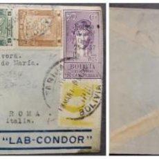 Sellos: O) 1935 BOLIVIA, VIA LAB CONDOR, LIBERTY HEAD, SCT 156 50C, MAPA DE BOLIVIA SCT C50 5B, AVIÓN SOBRE. Lote 284815623