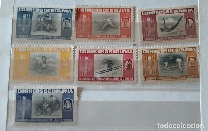 BOLIVIA,1951,CAT.YT.319/325. (Sellos - Extranjero - América - Bolivia)
