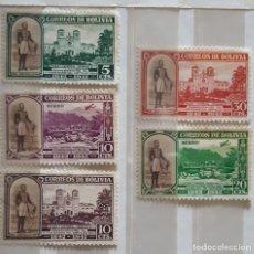 Sellos: BOLIVIA,1943,CAT.YT.259/263.. Lote 286409608