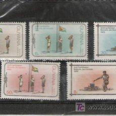 Sellos: BOY SCOUTS BONITA SERIE DE GUAYANA . Lote 3749251