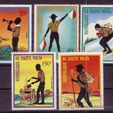 Stamps - ALTO VOLTA 287 Y AEREO 150/53*** - AÑO 1973 - SCOUT - 23074328
