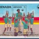 Sellos: GRENADA, 4º CARIBBEAN CUBOREE, BOY SCOUT, HOJA BLOQUE, SELLOS NUEVOS ***. Lote 161795741