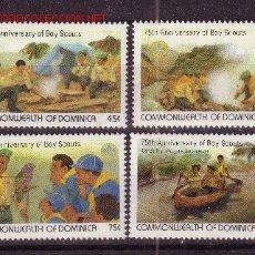 Sellos: DOMINICA 748/51** - AÑO 1982 - 75º ANIVERSARIO DEL MOVIMIENTO SCOUT. Lote 23656741