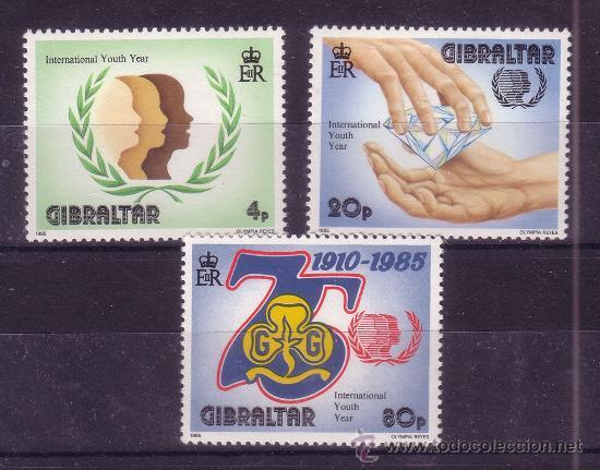 GIBRALTAR 506/08** - AÑO 1985 - 75º ANIVERSARIO DEL MOVIMIENTO SCOUT FEMENINO (Sellos - Temáticas - Boy Scout)
