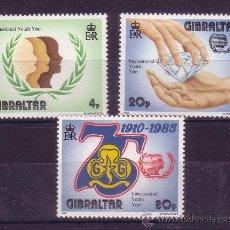 Sellos: GIBRALTAR 506/08** - AÑO 1985 - 75º ANIVERSARIO DEL MOVIMIENTO SCOUT FEMENINO. Lote 20632040