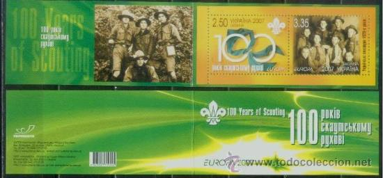 UKRANIA 2007 - TEMA EUROPA - BOY SCOUTS - CARNET (Sellos - Temáticas - Boy Scout)