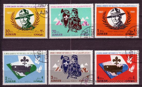 AJMAN 79 Y AÉREO 20 - AÑO 1967 - SCOUT - JAMBOREE MUNDIAL (Sellos - Temáticas - Boy Scout)