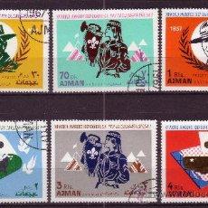 Sellos: AJMAN 79 Y AÉREO 20 - AÑO 1967 - SCOUT - JAMBOREE MUNDIAL. Lote 19437790