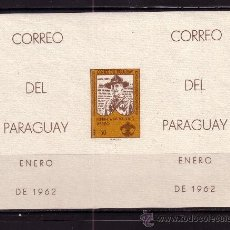 Sellos: PARAGUAY AEREO 316 HB** SIN DENTAR - AÑO 1962 - HOMENAJE A LOS SCOUT. Lote 24581124