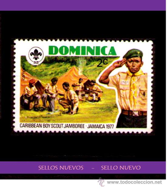 LOTE SELLO NUEVO - DOMINICA (AHORRA GASTOS COMPRANDO MAS SELLOS (Sellos - Temáticas - Boy Scout)