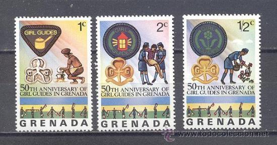 GRENADA, SELLOS NUEVOS CON GOMA (Sellos - Temáticas - Boy Scout)