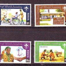 Stamps - KENIA***.75 ANIVERSARIO SCOUTISMO MUNDIAL. - 26978229