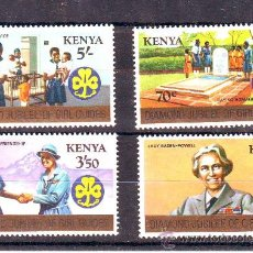 Sellos: KENIA***. ANIVERSARIO SCOUTISMO MUJERES.. Lote 26978243