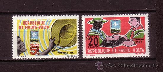 ALTO VOLTA 179/80*** - AÑO 1967 - JAMBOREE MUNDIAL SCOUT DE IDAHO (Sellos - Temáticas - Boy Scout)