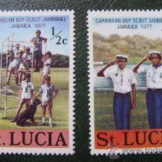 Sellos: SANTA LUCIA 1977, TEMATICA BOY SCOUT. Lote 29125484