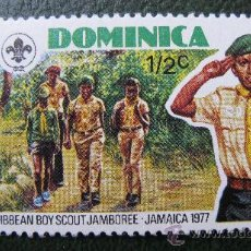 Sellos: DOMINICA 1977, TEMATICA BOY SCOUT. Lote 29125560