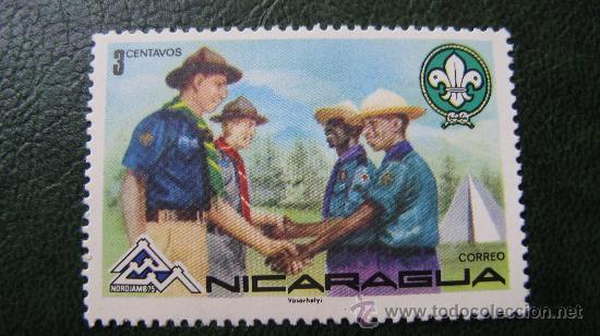 NICARAGUA, TEMATICA BOY SCOUT, NORDIAMB 75 (Sellos - Temáticas - Boy Scout)