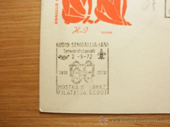 Sellos: 60 ANIVERSARIO SCOUT SCOUTS ITALIANO, FILATELIA SCOUT SENIGALLIA 1972 ITALIA ESCULTISMO - Foto 2 - 33167268