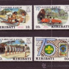 Sellos: KIRIBATI 88/91*** - AÑO 1982 - 75º ANIVERSARIO DEL MOVIMIENTO SCOUT. Lote 33442894