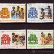Sellos: PAPUA 328/31*** - AÑO 1977 - 50º ANIVERSARIO DEL MOVIMIENTO SCOUT FEMENINO. Lote 34568352