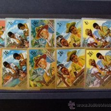 Stamps - BURUNDI REPUBLICA 1967 BOY SCOUTS 238 / 242 ** MNH - 34681758