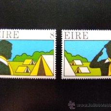 Sellos: IRLANDA - EIRE AÑO 1975 YVERT & TELLIER Nº 366 - 367 ** BOY SCOUTS . Lote 34819288
