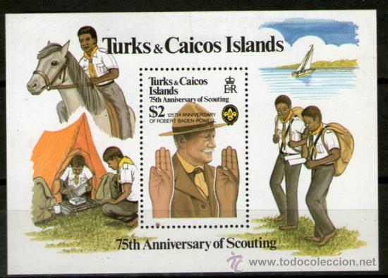 BOY SCOUTS - TURK Y CAICOS (Sellos - Temáticas - Boy Scout)