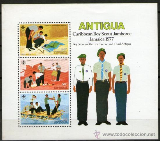 BOY SCOUTS - ANTIGUA (Sellos - Temáticas - Boy Scout)