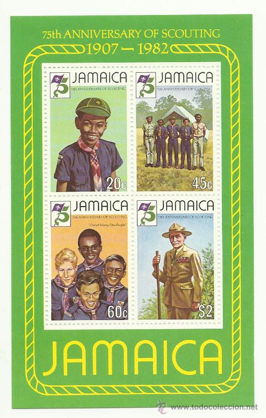 BOY SCOUT. PRECIOSA HOJITA DE JAMAICA (Sellos - Temáticas - Boy Scout)