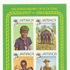 Sellos: BOY SCOUT. PRECIOSA HOJITA DE JAMAICA. Lote 38577386