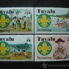 Sellos: TUVALU 1977 IVERT 51/4 *** 50º ANIVERSARIO DEL MOVIMIENTO SCOUT EN EL PACIFICO CENTRAL. Lote 36374850