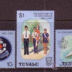 Sellos: TUVALU 205/07** - AÑO 1983 - SCOUT - CENTENARIO DE LA BOYS BRIGADE DE TUVALU. Lote 212570462