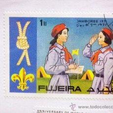 Sellos: CARTON CON 4 SELLOS, TEMATICA. BOY SCOUT, FUJEIRA. EMIRATOS ARABES. Lote 37015435