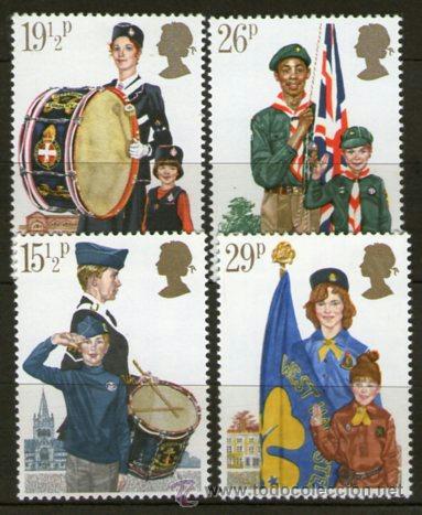 BOY SCOUTS - INGLATERRA - AÑO 1982 (Sellos - Temáticas - Boy Scout)