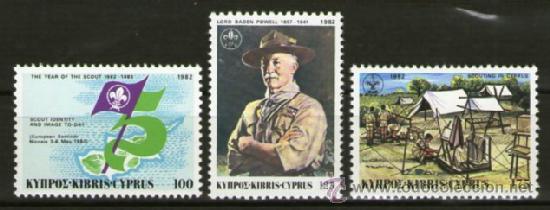 BOY SCOUTS - CHIPRE - AÑO 1982 (Sellos - Temáticas - Boy Scout)