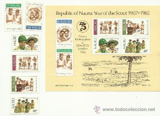 SERIE DE NAURU. BOY SCOUTS. 1982 (Sellos - Temáticas - Boy Scout)